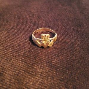 Jewelry - 14K yellow gold Irish Claddagh ring